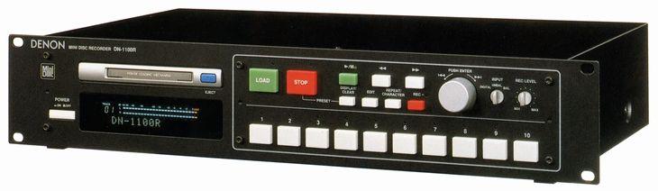 Platine MiniDisc DENON DN-1100R  - www.remix-numerisation.fr - Rendez vos souvenirs durables ! - Sauvegarde - Transfert - Copie - Digitalisation - Restauration de bande magnétique Audio - MiniDisc - Cassette Audio et Cassette VHS - VHSC - SVHSC - Video8 - Hi8 - Digital8 - MiniDv - Laserdisc - Bobine fil d'acier - Micro-cassette - Digitalisation audio - Elcaset