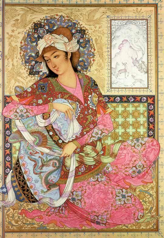 Sense of realism in Flat Space Lady--Persian art