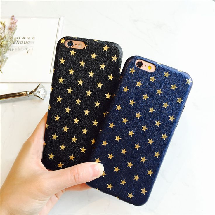 Fashion Case For iphone 6 Case Ultra Thin Gold Stars Pattern For iphone 6S 6 Plus 7 7plus Phone Cases Cute Back Cover Capa Funda
