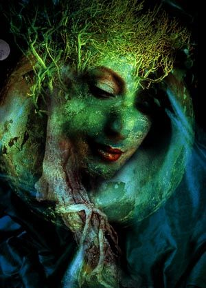 Holly Warburton MOTHER EARTH IN GREEN