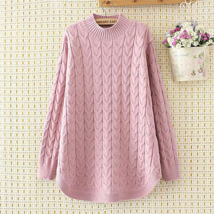 Half-High Collar Wild Twist Mid-Length Bottoming Sweater 1