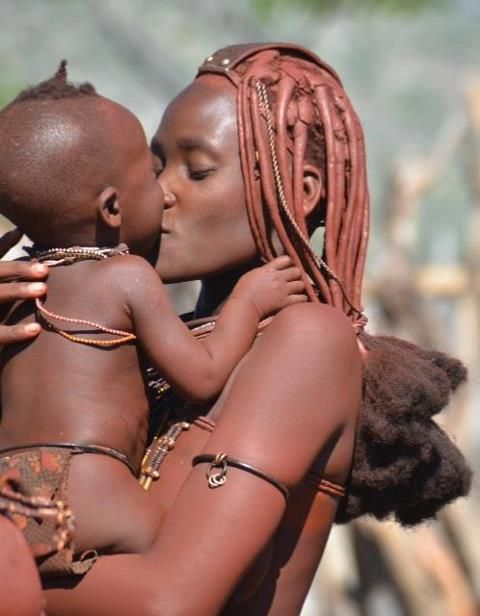 Africa   A tender moment between a mother and her baby. Kunene, Namibia   © Gabi ~ gvst* on flickr