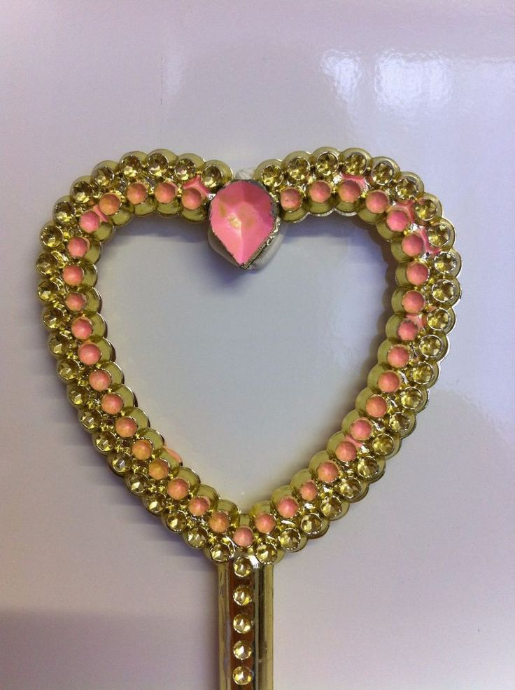 Girls Heart-shaped Magic Wand. Pink and gold. Toys, Fancy dress. Play. Ace Gift!