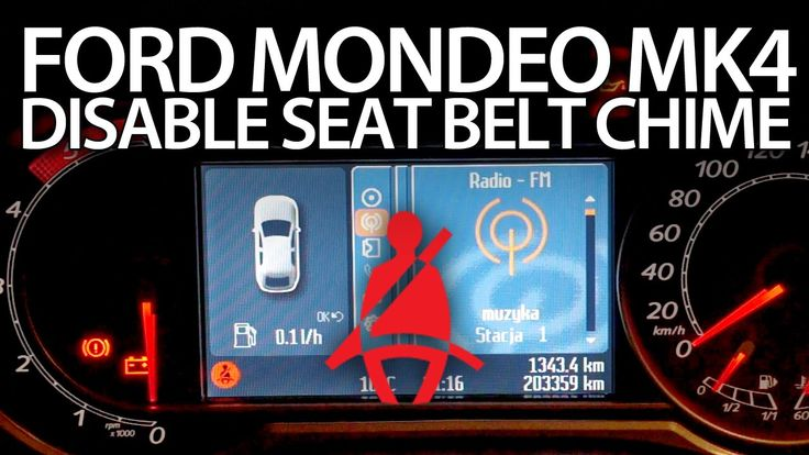 How to #disable seat belt #chime in #Ford #Mondeo MK4 safety #seatbelt #reminder #cars #warning