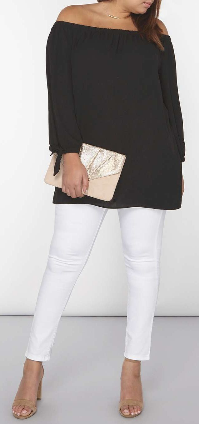 Plus Size Bardot Top