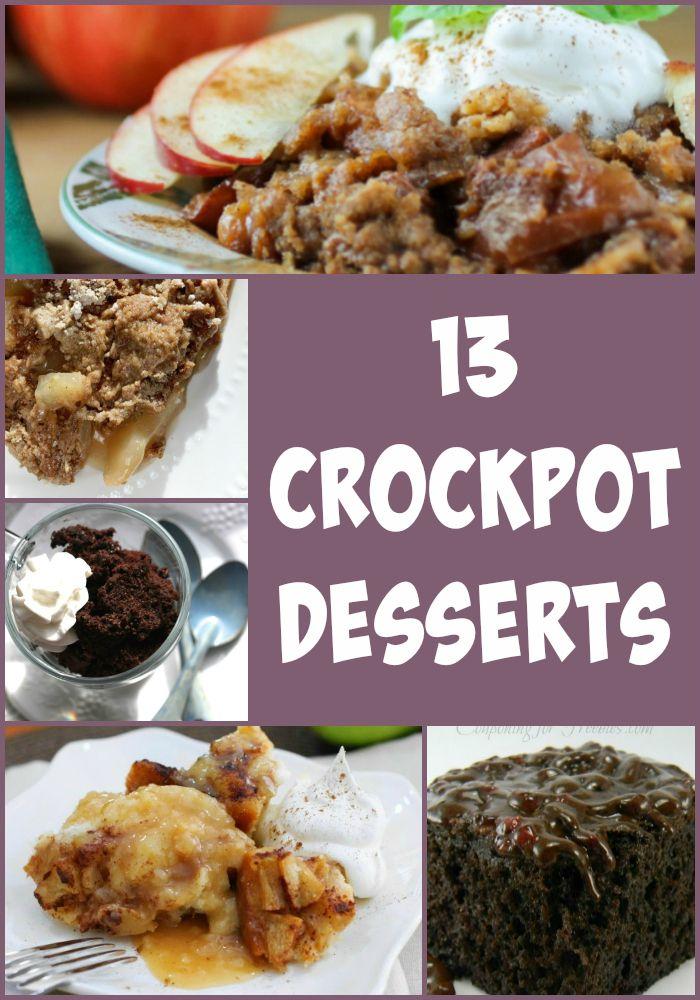 13 Crockpot Desserts- Love, Pasta and a Tool Belt | crockpot | desserts | crockpot desserts | recipes | food |