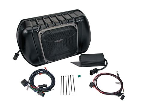 KICKER PowerStage 8-Channel CAN Amplifier & Powered Subwoofer Upgrade Kit for 2007-2010 Jeep Wrangler, Four-Door with Premium Audio