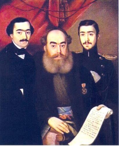 Vornicul Alecsandri cu fiii Vasile și Iancu