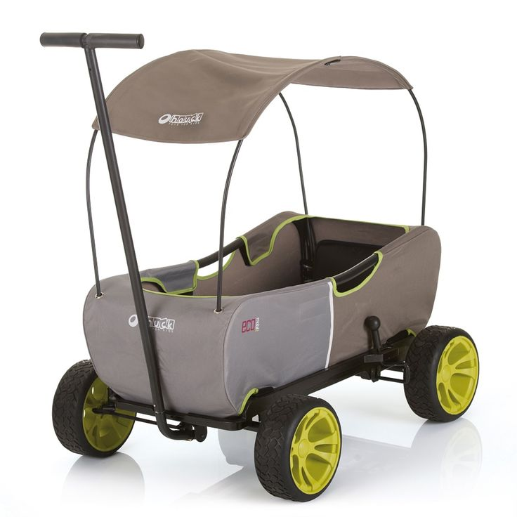 Hauck ECOmobil Foldable Hand-Pull Wagon, - Forest