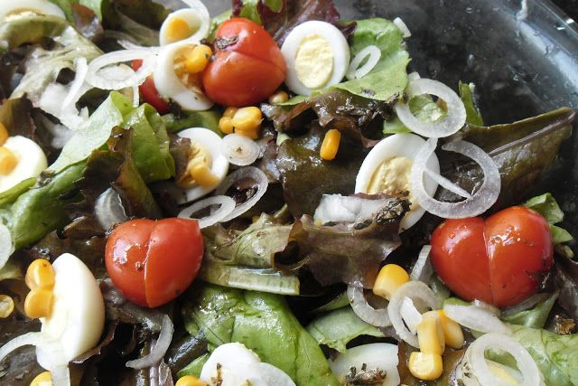 Minha Mesa: Salada ao molho francês