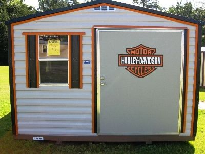 Harley Davidson Storage Building 12×16...TIME TO CONVERT MY SHED TO A HOG GARAGE!!!