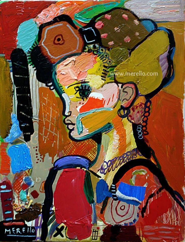 """Jose Manuel Merello.- """"La niña de la Cibeles."""" (73 x 54 cm) Técnica mixta sobre lienzo. ARTE CONTEMPORANEO ESPAÑOL. http://www.merello.com"""