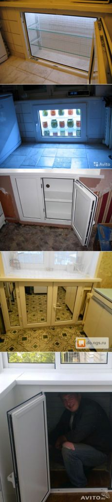 Холодильный шкаф под подоконником — Наши дома