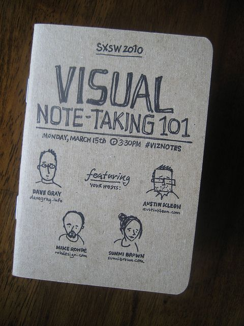 Visual Note-Taking 101 Scout Book: Front Cover by Mike Rohde, via Flickr