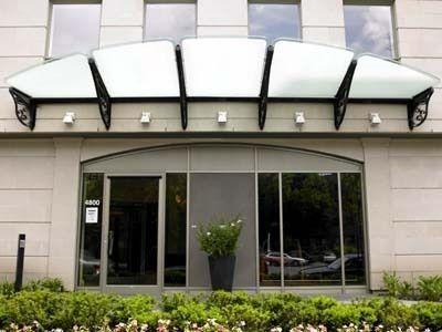 Wrought iron entrance canopy (glass cover) NN 9500  BATTIG DESIGN--Very classical