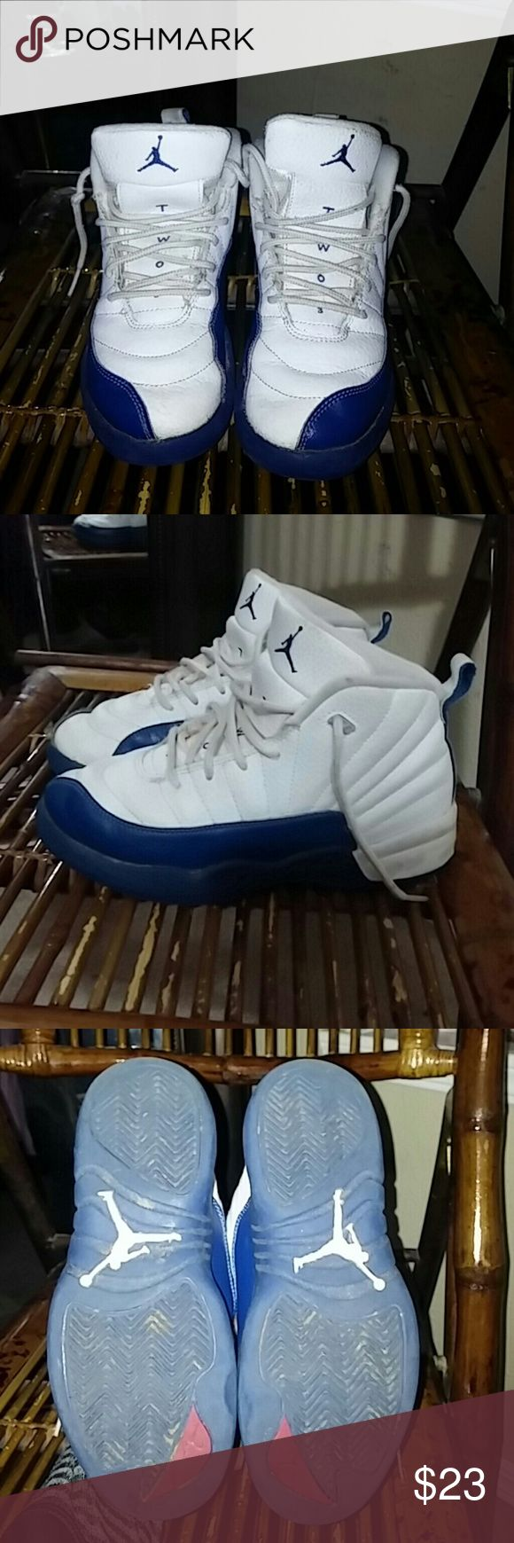 Michael Jordan French blue 12 Michael Jordan French blue 12 in great condition just need to be cleaned up no holes no tears Michael Jordan's Shoes Sneakers