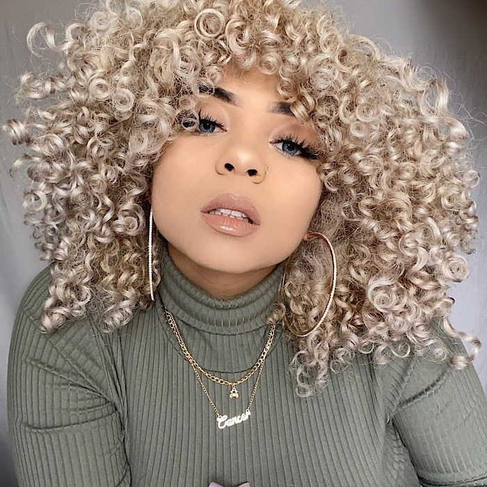 Texture Tales Glori Shares Her Curly Hair Journey And Tips For Healthy Blonde Curls In 2020 Curly Hair Styles Blonde Curly Hair Blonde Natural Hair