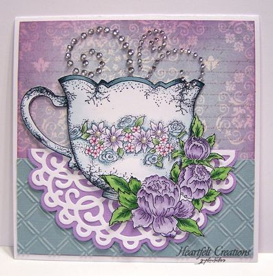 1000+ images about Cards & Craft - Tea Cups, Pots & Coffee ...