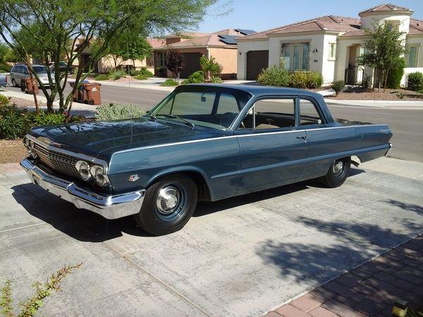 1967 Chevy Impala Craigslist >> 1963 Chevrolet Biscayne, 409 2x4bbl V8/4speed stick/4.11 Positraction axle   American V8s ...