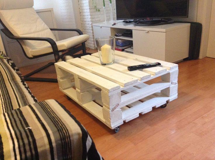 223 best mesas y mesas auxiliares de palets images on pinterest - Mesas con palets ...