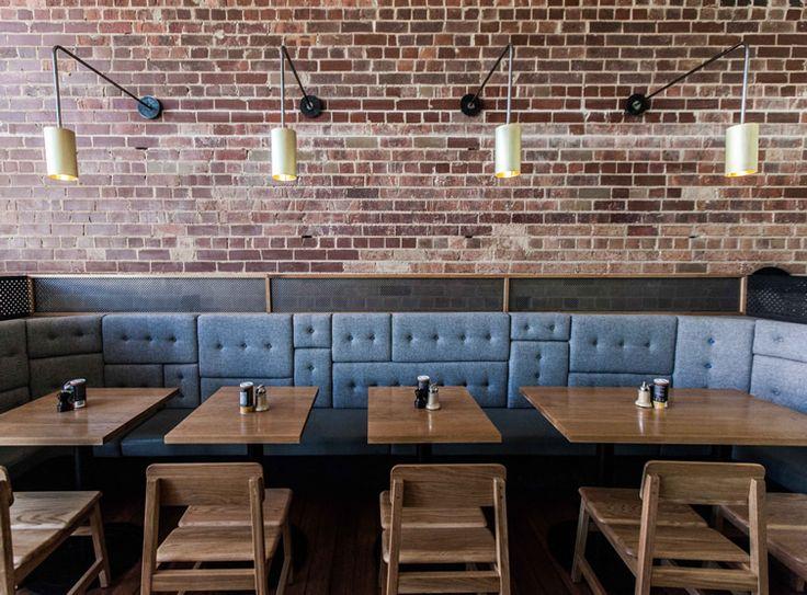 Melbourne Coffee Culture.  Banquette paneling ;)