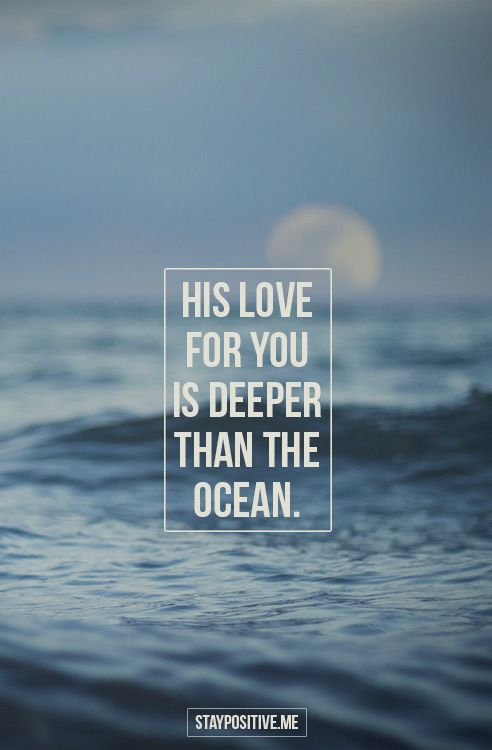 God's love…the biggest thing on this earth