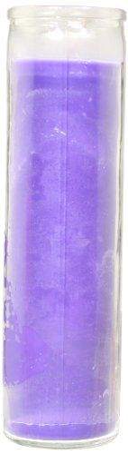 "Star 8"" Solid Purple Candle (Pack of 12)"