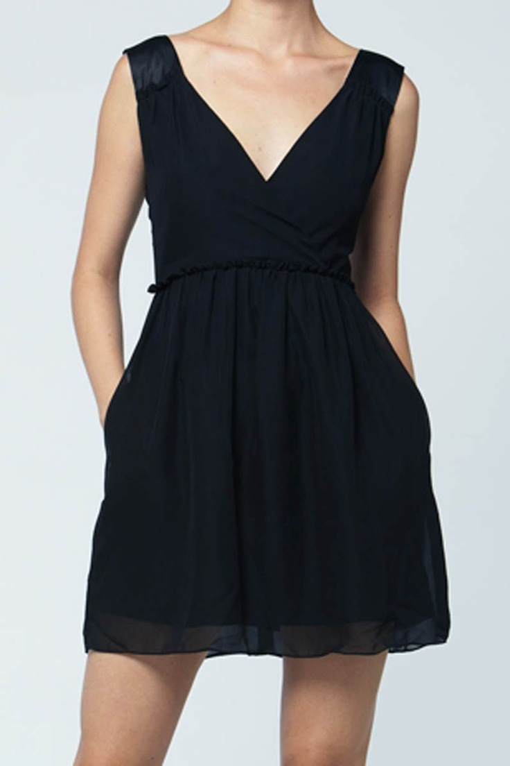 Low V Wrap Dress (Black) from Quinn Apparel - Cruise Collection and more on Brandsfever
