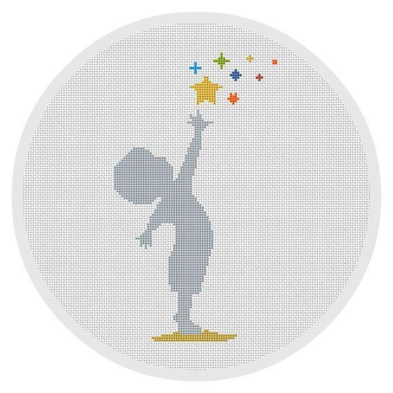 BOY Cross stitch pattern Litle Boy silhouette Modern by Xrestyk