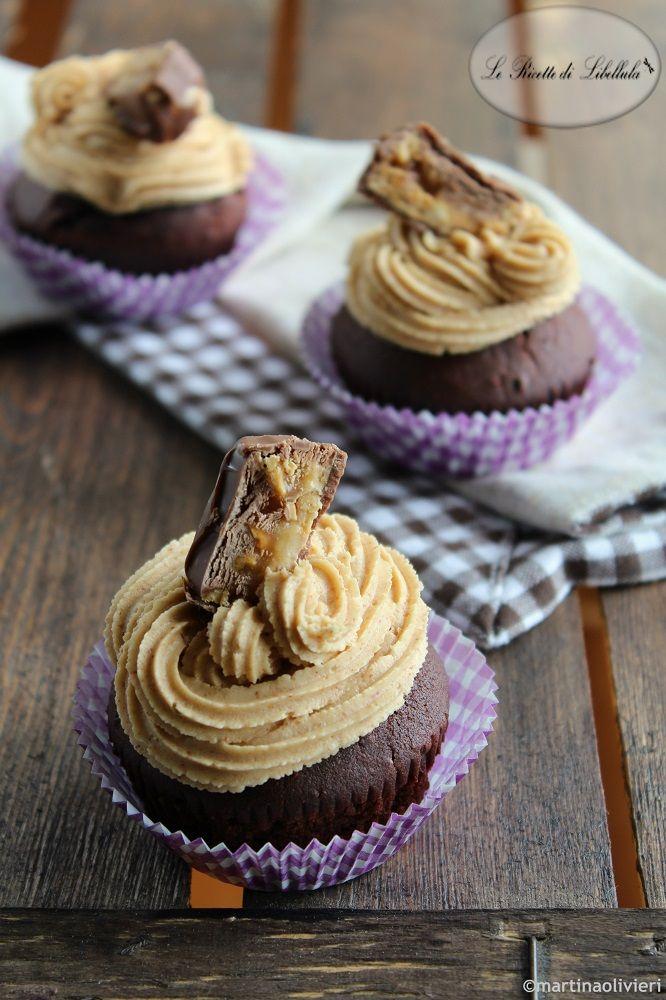 Cupcake con cuore di Snickers