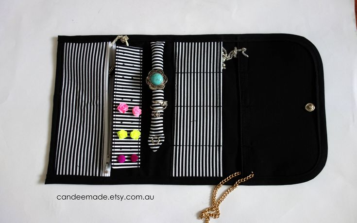 Striped Portable Jewellery Holder! by CandeeMade on Etsy