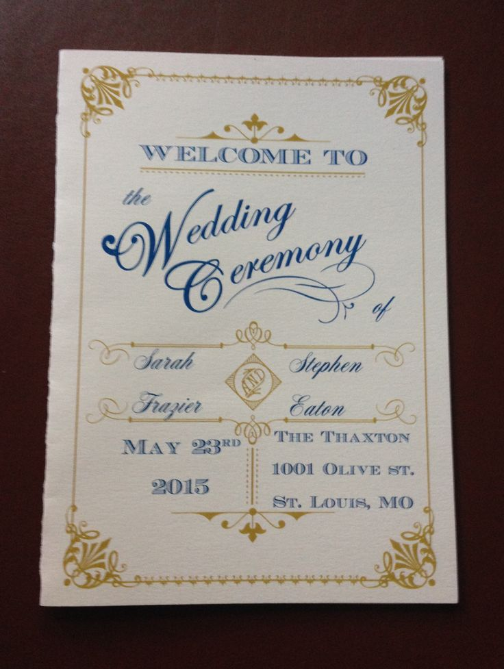 rose navy gold sophisticated wedding programs thethaxtonstl