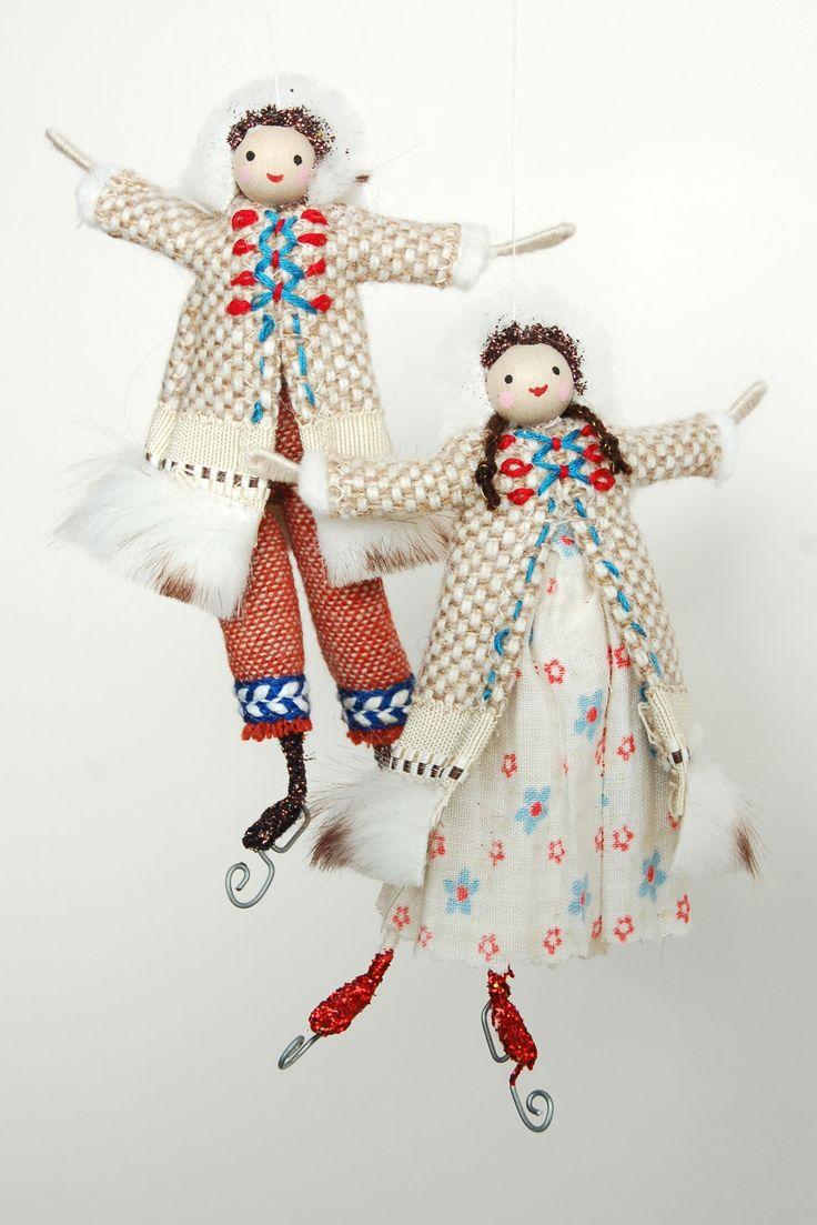 Fairy christmas ornaments - Halinka S Fairies Skaters Christmas Charactersclothespin Dollschristmas Ornamentschristmas