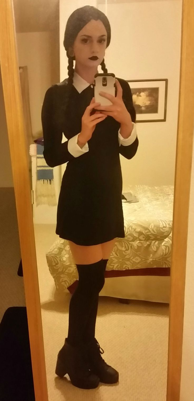My version of Wednesday Addams! (shitty cellphone quality) - Album on Imgur                                                                                                                                                                                 More