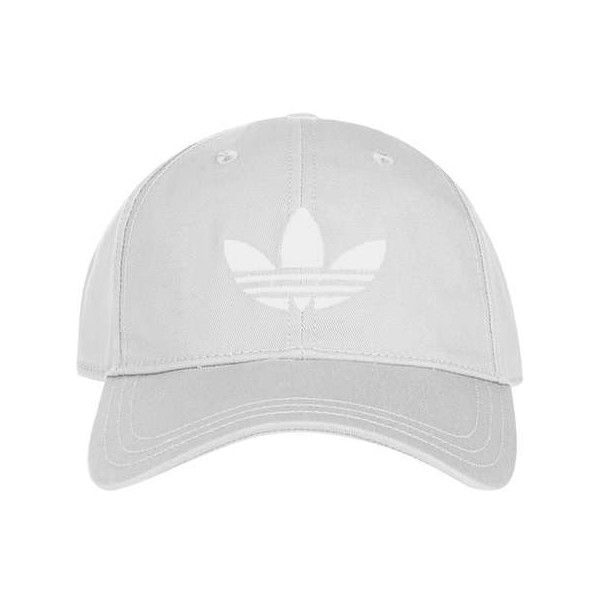 Trefoil Cap by Adidas Originals ($22) ❤ liked on Polyvore featuring accessories, hats, polyester hat, grey cap, grey hat, cap hats and topshop hats