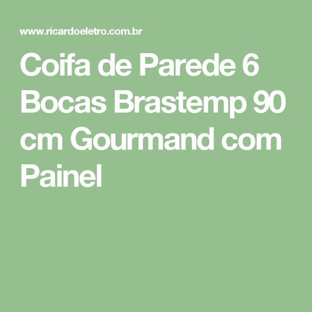 Coifa de Parede 6 Bocas Brastemp 90 cm Gourmand com Painel