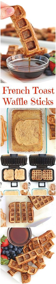 French Toast Waffle Sticks by the bakermama: Easy to make from your favorite bread. Fun to eat. /search/?q=%23French_Toast_Sticks&rs=hashtag /explore/Waffles/