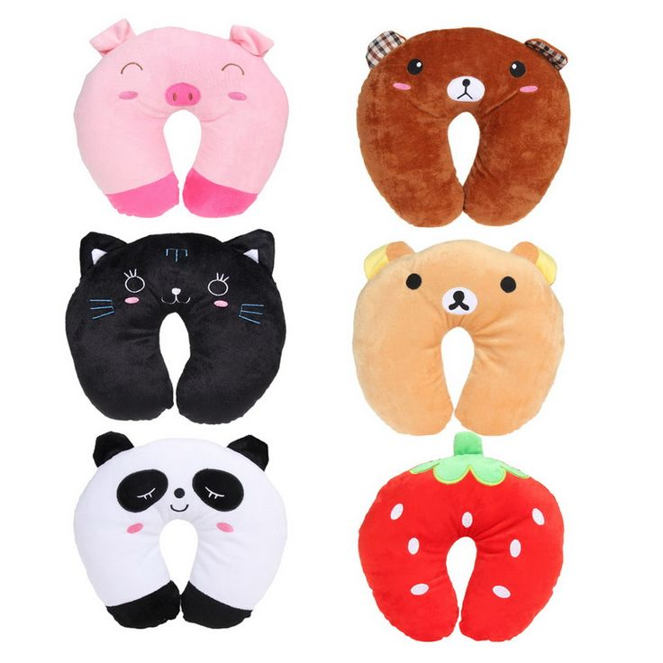 ASLT New invention comfortable Multi-Color Cartoon U Shaped neck travel pillow automatic Neck Support Head Rest Cushion ** Continue to the product at the image link.