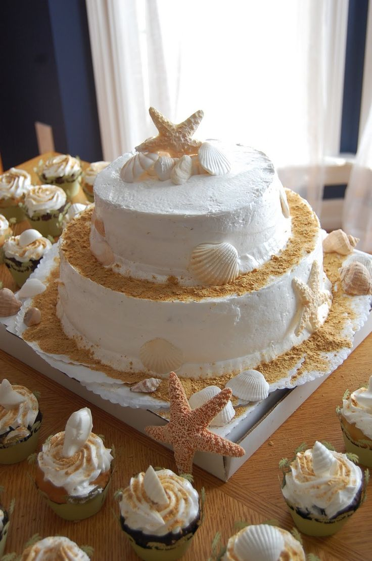 Beach wedding--but NOT with real starfish.