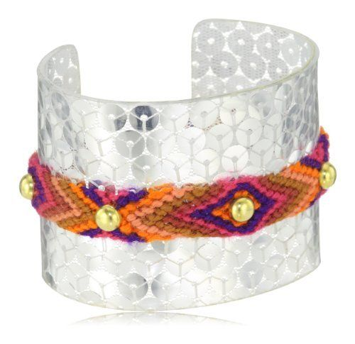 Mercedes Salazar Sunset Wayuu Band Sequined Cuff Bracelet Mercedes Salazar. $50.00. Items that are handmade may vary in size, shape and color. Made in Colombia