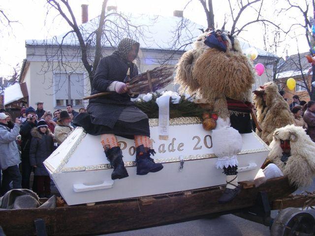 """Busójárás"" - traditional winter aconite folklore - Mohacs, Hungary"