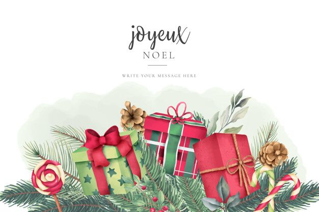 Christmas Greeting Card With Lovely Wate Free Vector Freepik Freevector Christmas Watercolor Christmas Greeting Card Template Christmas Greeting Cards