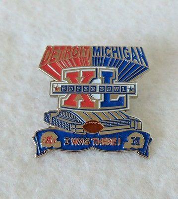 SUPER BOWL XL NFL Detroit Michigan I WAS THERE PIN Souvenir Collector