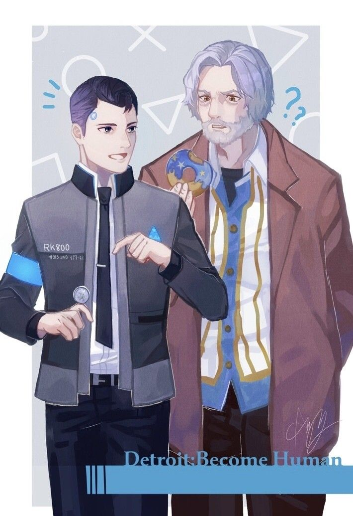 Detroit become human | DBH |Connor and Hank | Detroit