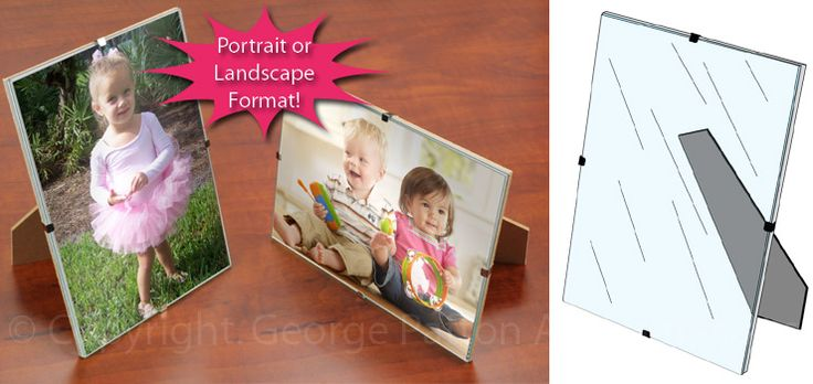Glass w/Clip Picture Frame (guest favors)