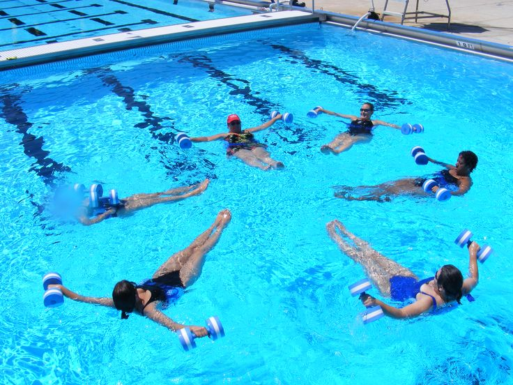 water aerobics - Ideas for both deep & shallow water