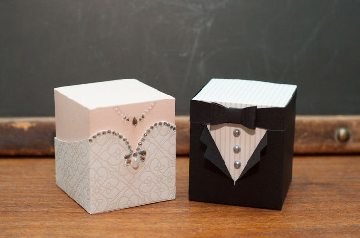 Bride and Groom Boxes by Susiespotless - Cards and Paper Crafts at Splitcoaststampers