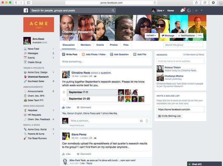 Facebook wil een nieuwe commerciële ader vinden . Omdat mensen toch al bezig zijn met sociale media en zeker met facebook zou facebook at work wel kunnen aanslaan .
