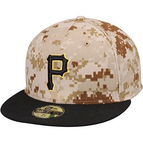 online retailer 8db4c 91cde New Era 59Fifty Memorial Day Hat Pittsburgh Pirates Fitted Cap Size 7 1 2  Men Sz  NewEra  PittsburghPirates