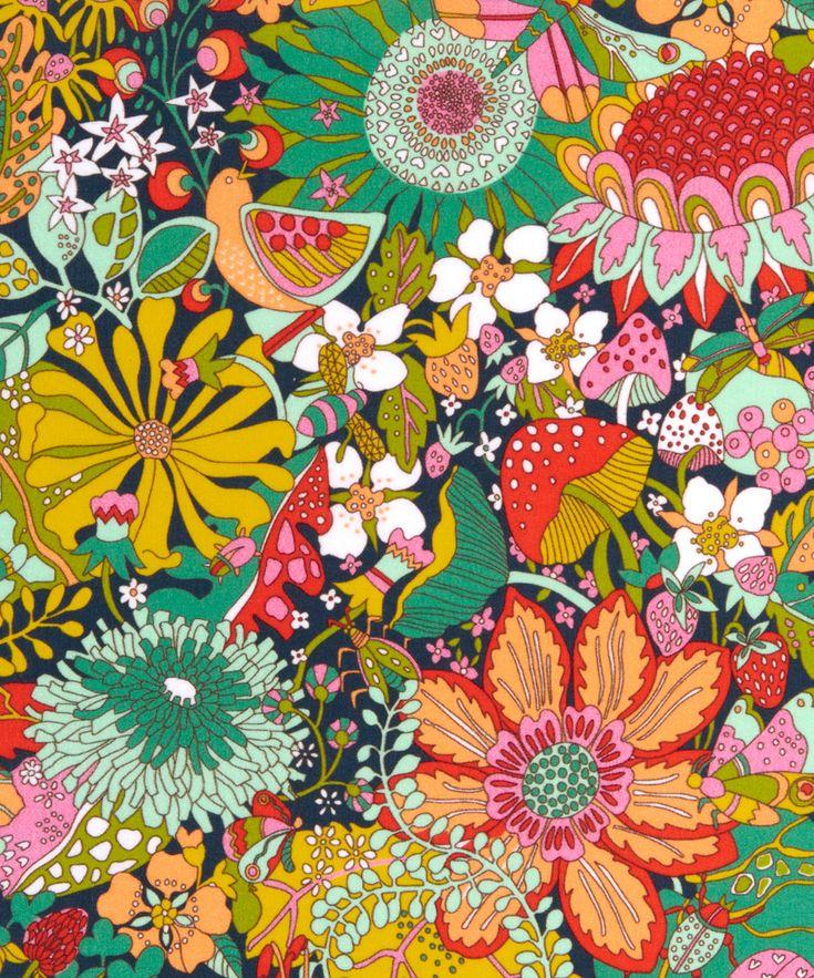 Liberty Art Fabrics Elodie Bea Tana Lawn Cotton   Fabric   Liberty.co.uk